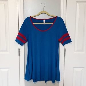 LuLaRoe Blue & Red Perfect T